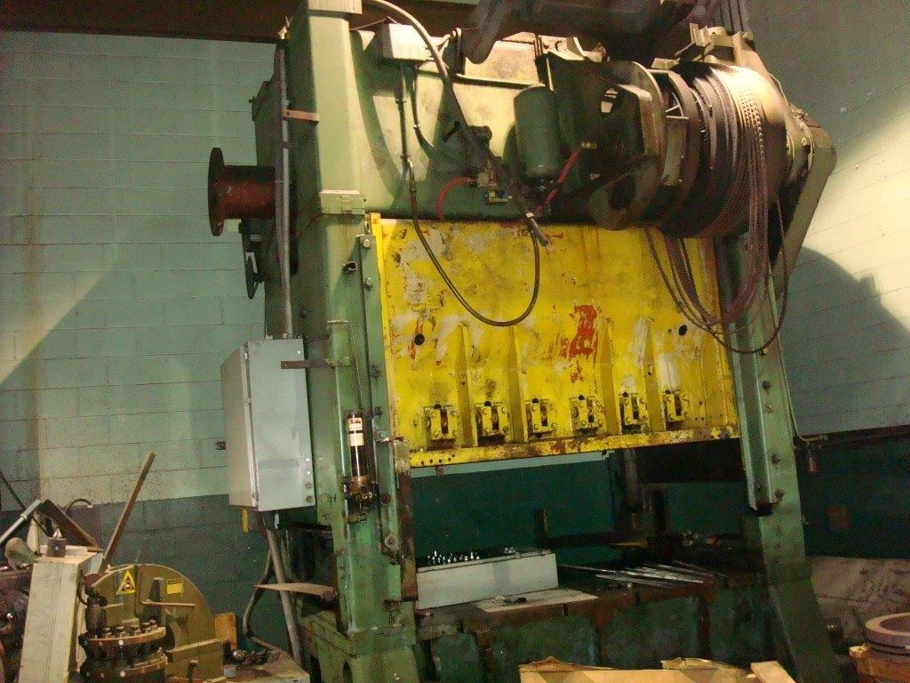 1 – USED 200 TON WARCO STRAIGHT SIDE, DOUBLE CRANK TRANSFER DIE PRESS MODEL 200-2-84E 14285