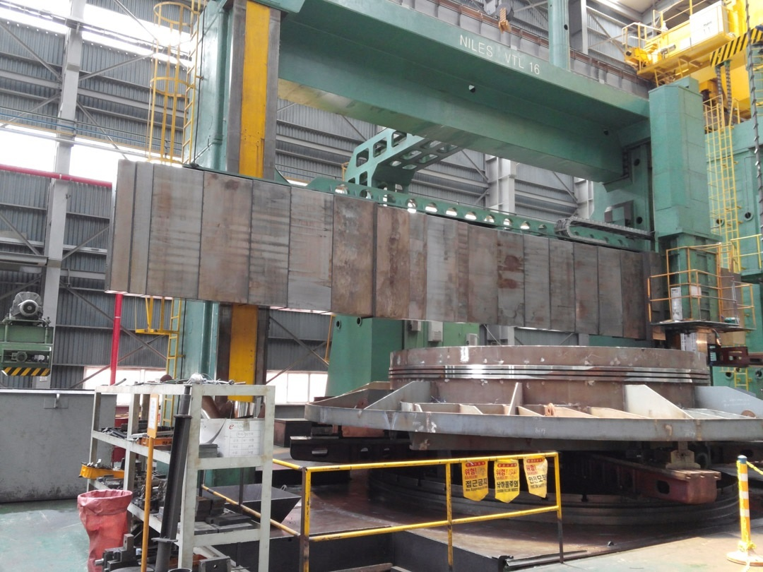 1 – USED 34' KOLOMA CNC VERTICAL BORING MILL C-4201