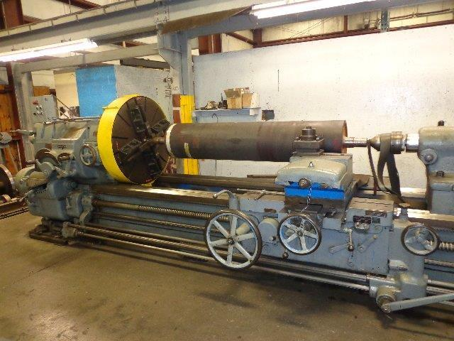 "1 – USED 42"" X 160"" AMERICAN (SUPER PRODUCTIVE) HEAVY DUTY ENGINE LATHE C-4231"