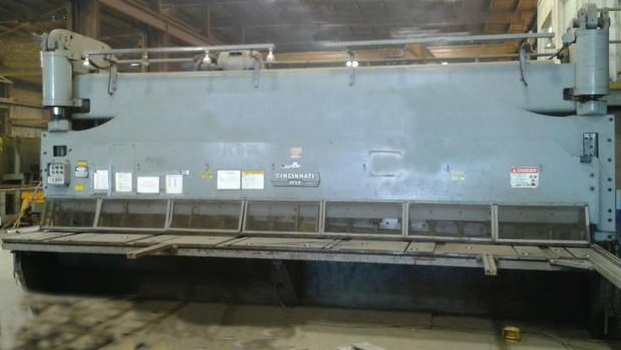 "1 – USED 20' X 5/8"" CINCINNATI HYDRAULIC PLATE SHEAR"
