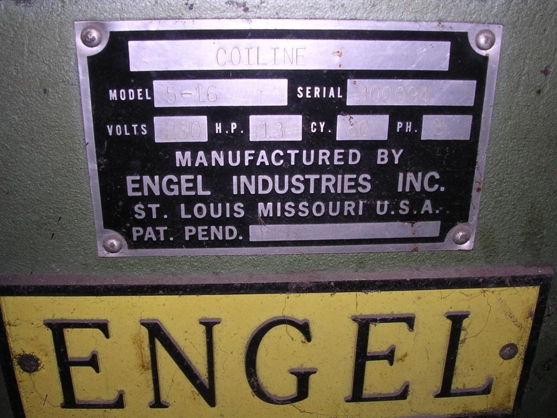 "1 – USED 60"" X 16 GA. ENGEL CUT-TO LENGTH LINE"