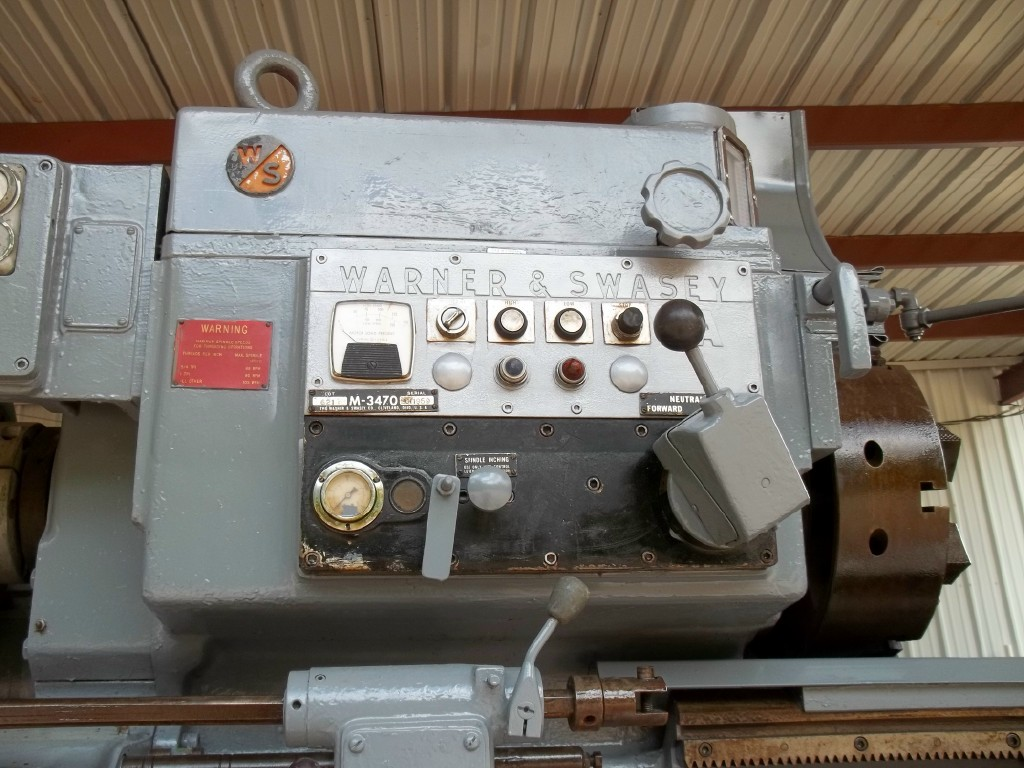 1 - USED #2A WARNER & SWASEY SQUARE HEAD SADDLE TYPE TURRET LATHE WITH CROSS SLIDING HEX