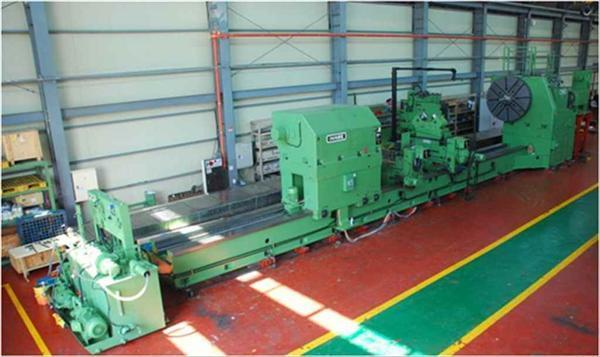 "1 – USED 110"" X 433"" INNSE (ITALY) CNC FLAT BED LATHE C-4422"