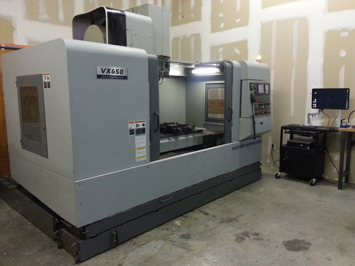 1 – USED HYUNDIA VX-650/40 VERTICAL MACHINING CENTER C-4460