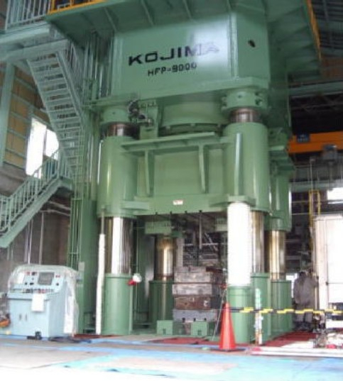 1 - USED 9,000 TON KOJIMA (JAPENSE) HYDRAULIC HOT FORGING PRESS C-4463