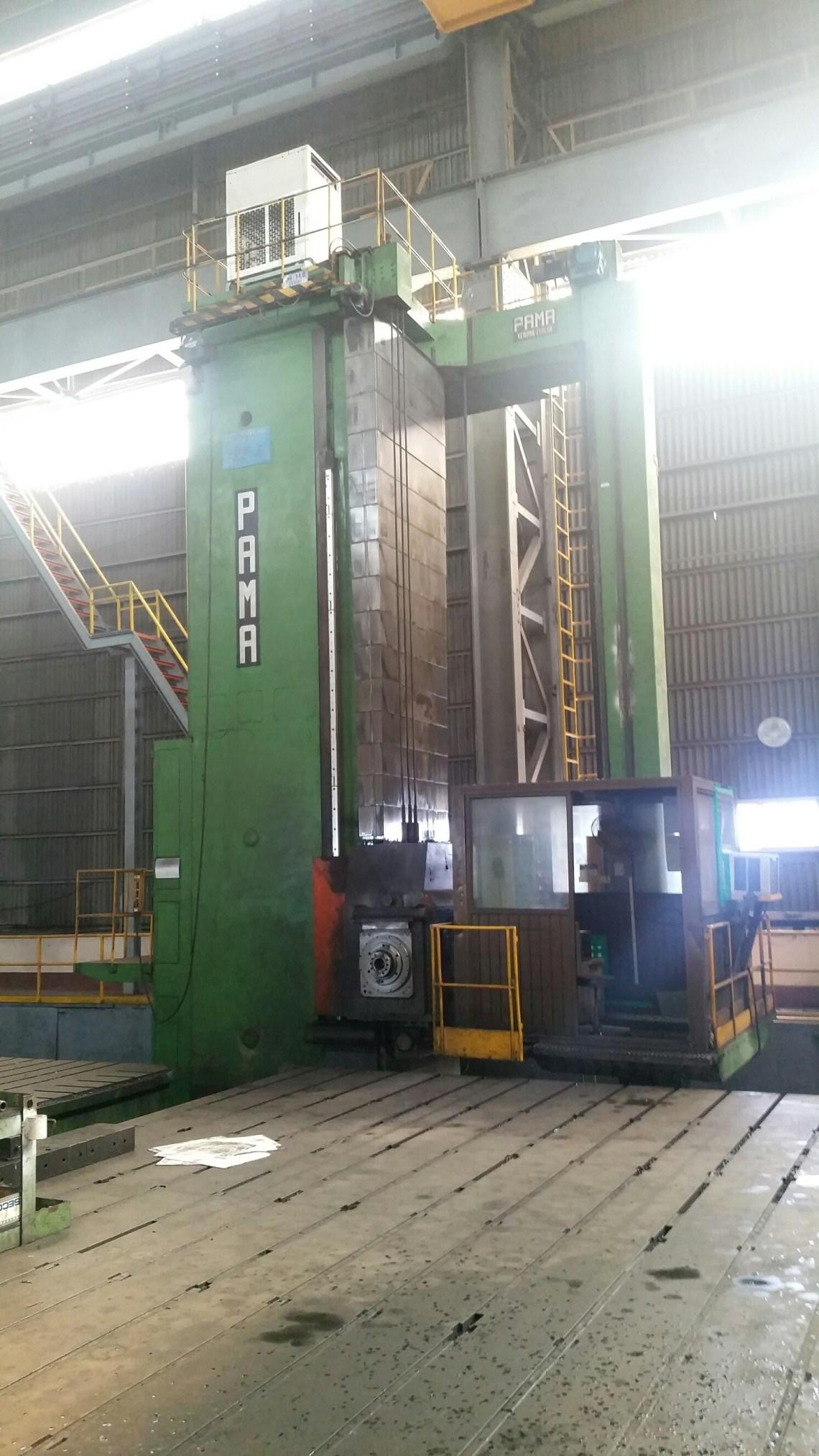 """1 - USED 8"""" PAMA CNC HORIZONTAL FLOOR TYPE BORING MACHINE C-4348"""