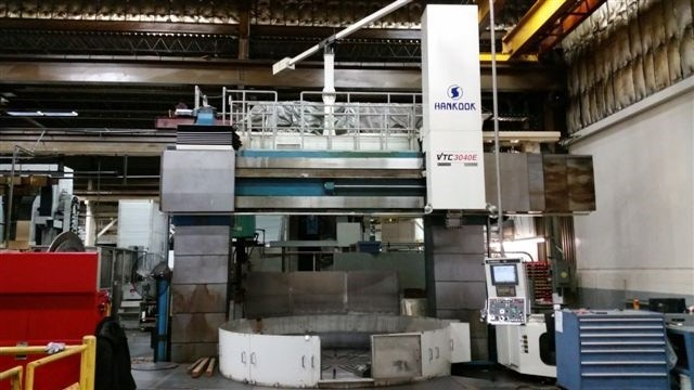 "1 – USED 157"" HANKOOK MODEL VTC 3040E CNC VERTICAL BORING MILL C-5013"