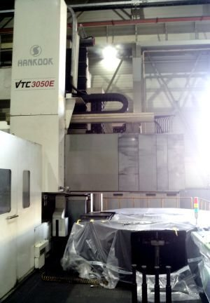 "​1 – USED HANKOOK VTC 3050E 157"" / 197"" CNC VERTICAL TURNING CENTER WITH LIVE TOOLING"