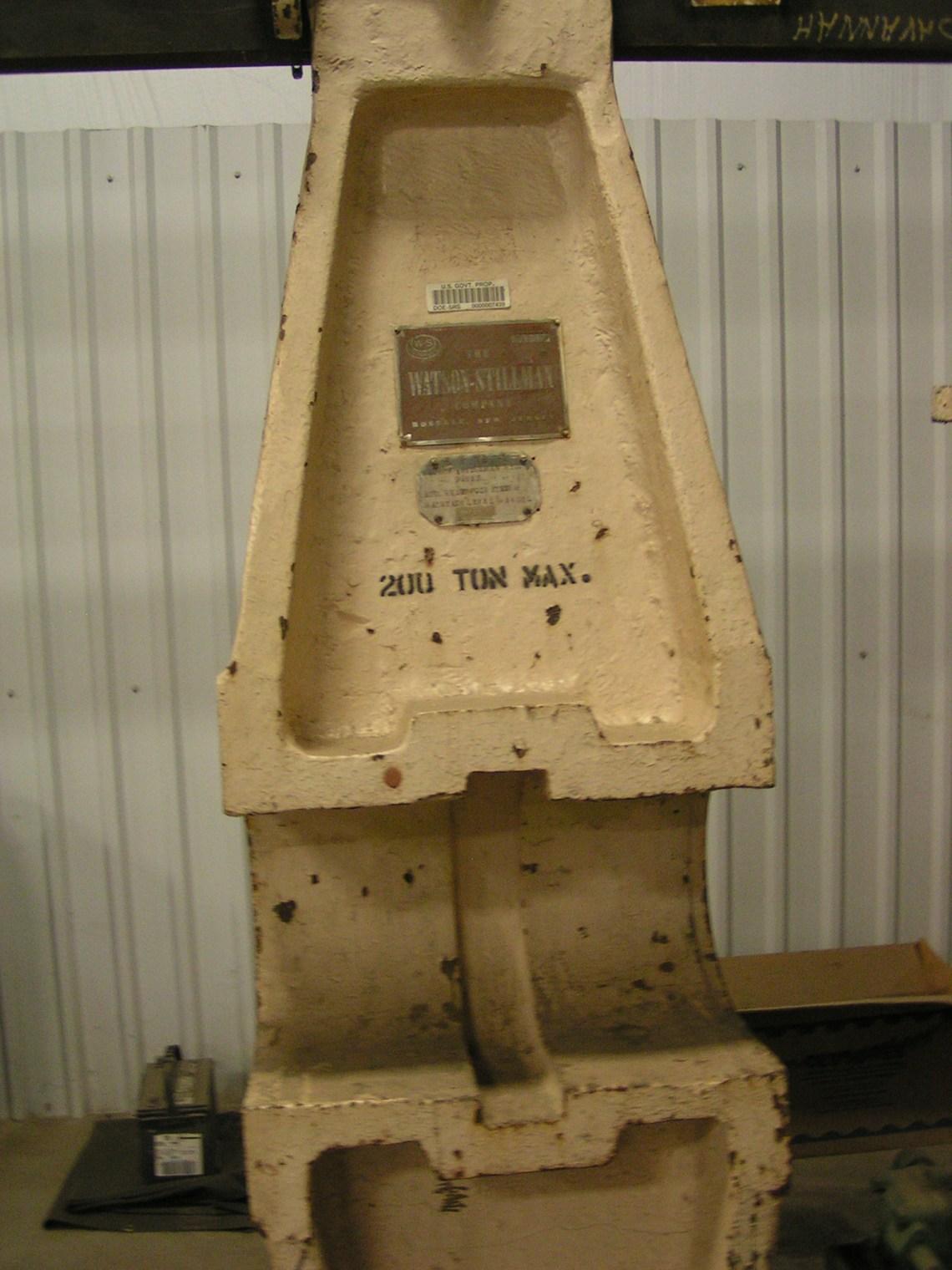 1 – USED 200 TON WATSON STILLMAN HYDRAULIC WHEEL PRESS