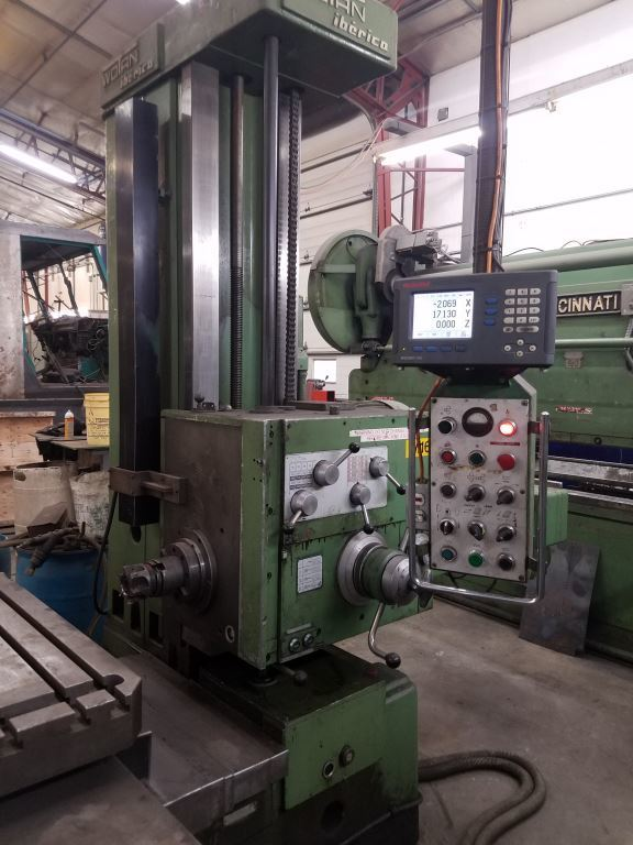 """1 – USED 4 1/8"""" WOTAN TABLE TYPE HBM WITH BUILT IN ROTARY TABLE"""