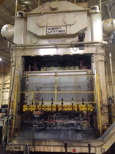 1 – USED 600 TON WEAN UNITED STRAIGHT SIDE FOUR POINT PRESS