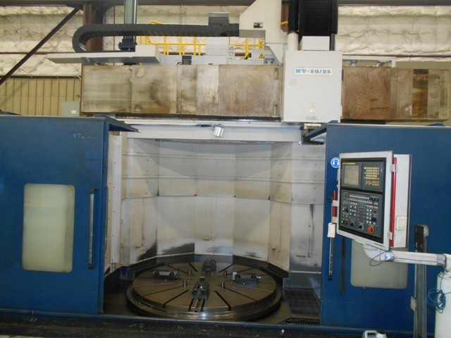 """1 – USED 98""""/78"""" HNK NT-20-25 CNC VERTICAL BORING MILL C-5175"""
