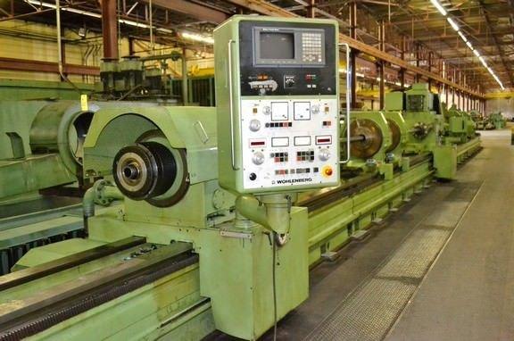 """1 – USED 39"""" X 393"""" WOHLENBERG PB2-1000 B CNC PERFORMANCE DEEP HOLE BORING LATHE C-5316"""
