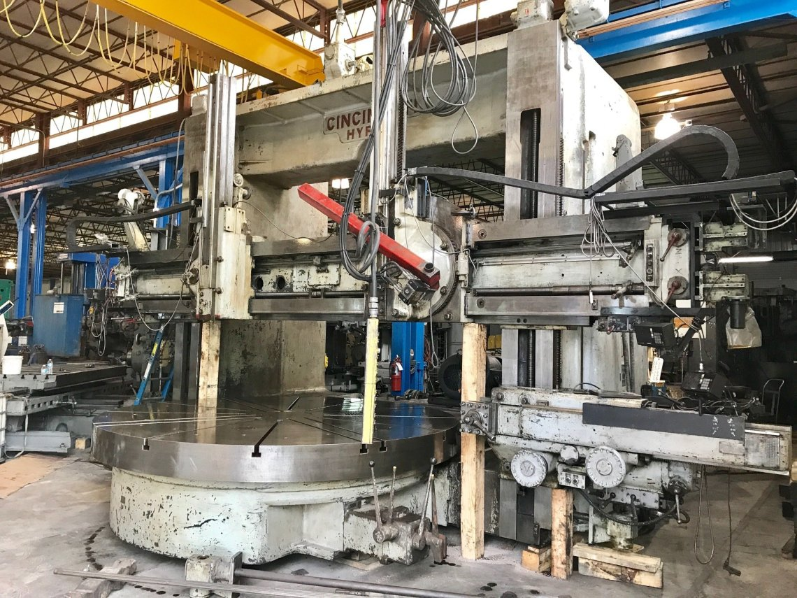 "1 – USED 144"" CINCINNATI HYPRO VERTICAL BORING MILL C-5321"