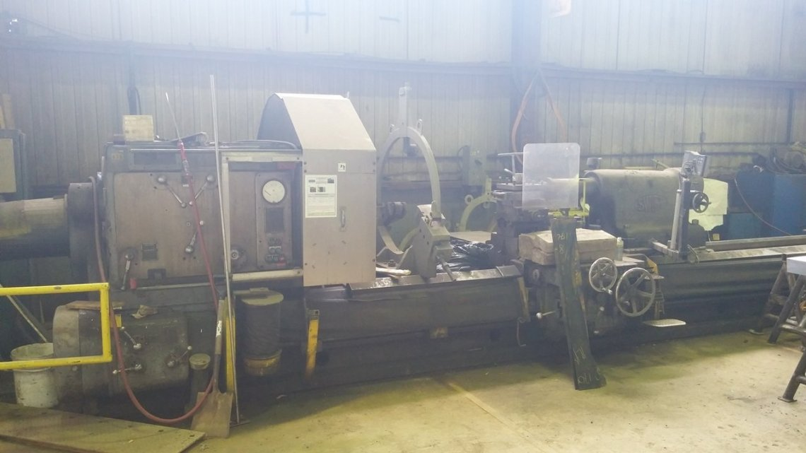 "1 – USED 60"" X 504"" SWIFT ENGINE LATHE C-5297"