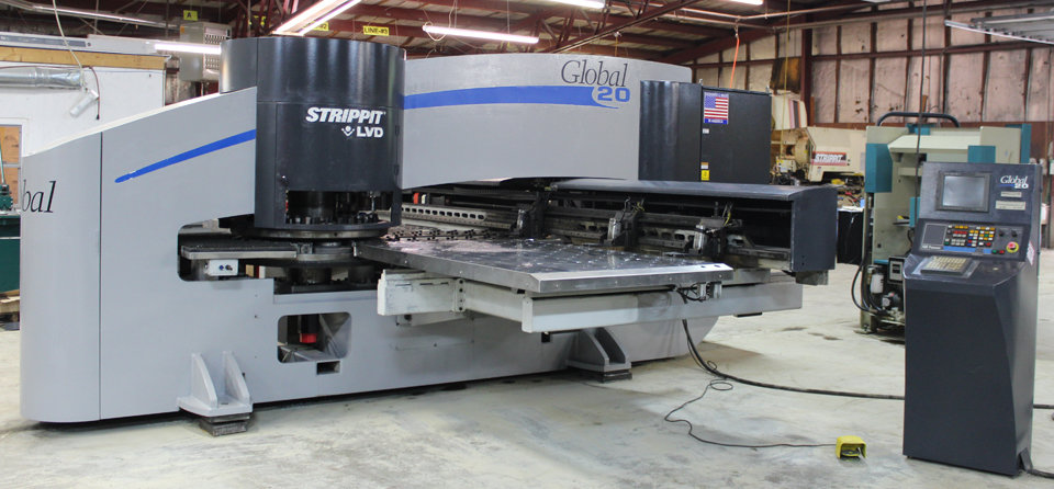 1 – USED STRIPPIT GLOBAL 1225/20 CNC TURRET PUNCH MACHINE C-5303