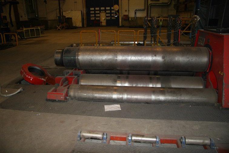 """1 – USED 3"""" X 120"""" DAVI CNC 4-ROLL HYDRAULIC PLATE ROLL"""