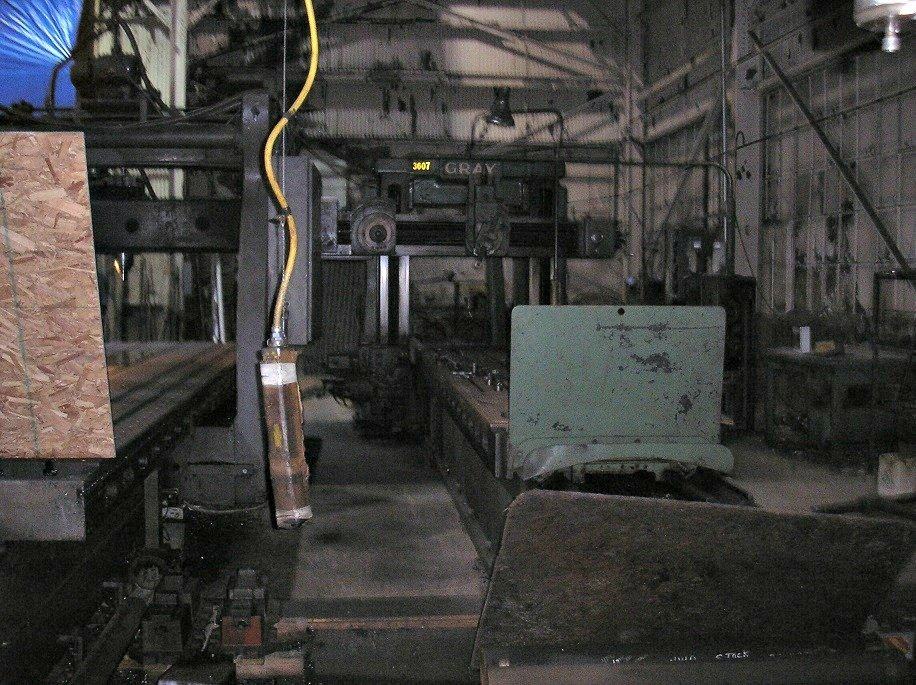 "1 – USED 48"" X 48"" X 196"" G.A. GRAY DOUBLE HOUSING PLANER"
