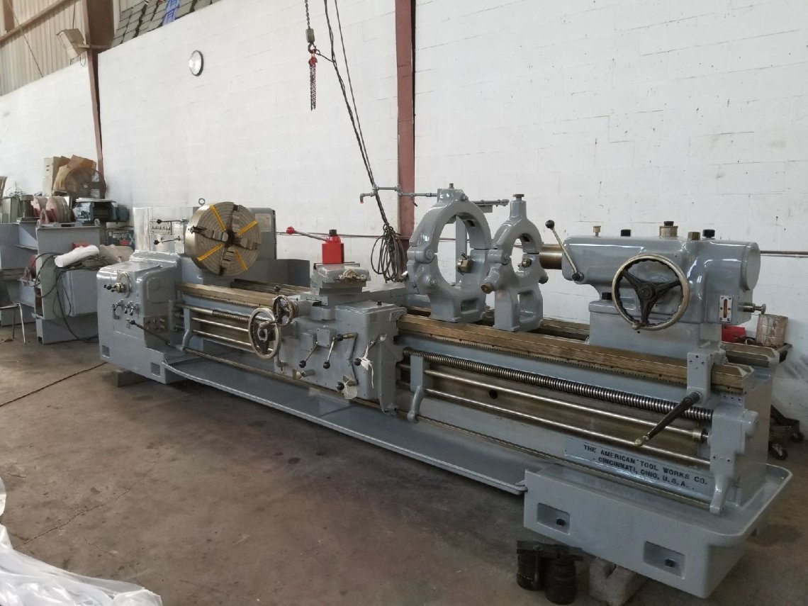 "1 – USED 30"" X 120"" AMERICAN HD ENGINE LATHE"