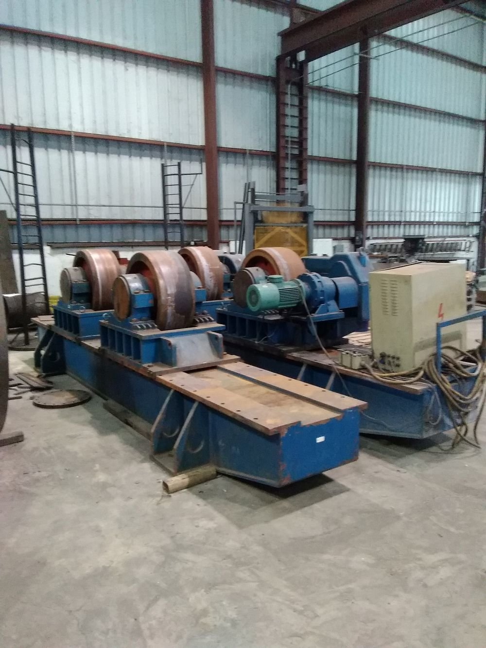 ​1 – USED 600 TON VANGARD TANK TURNING ROLLS