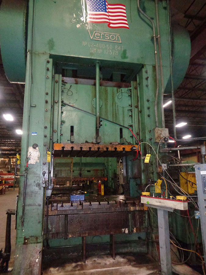 1 – USED 400 TON VERSON SSDC PRESS