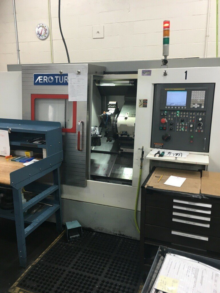 1 – USED AERO-TURN BT-380 2-AXIS CNC TURNING CENTER C-5451
