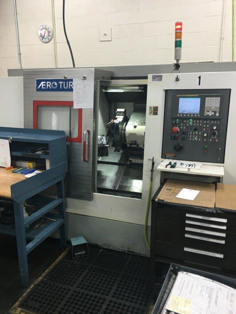 1 – USED AERO-TURN BT-380 2-AXIS CNC TURNING CENTER C-5451