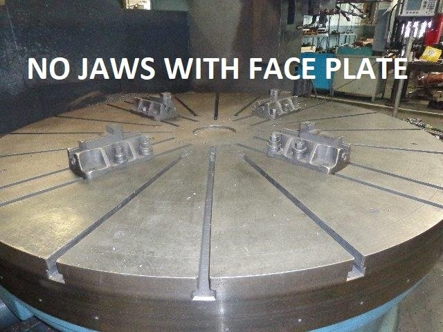 "​1 – USED 96"" CAST IRON FACE PLATE FROM BETTS VBM"