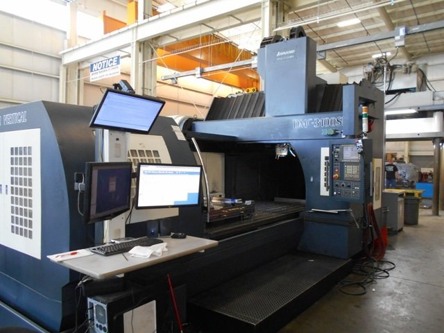 ​1 – USED JOHNFORD DMC 3100SH BRIDGE TYPE VERTICAL MACHINING CENTER C-5093