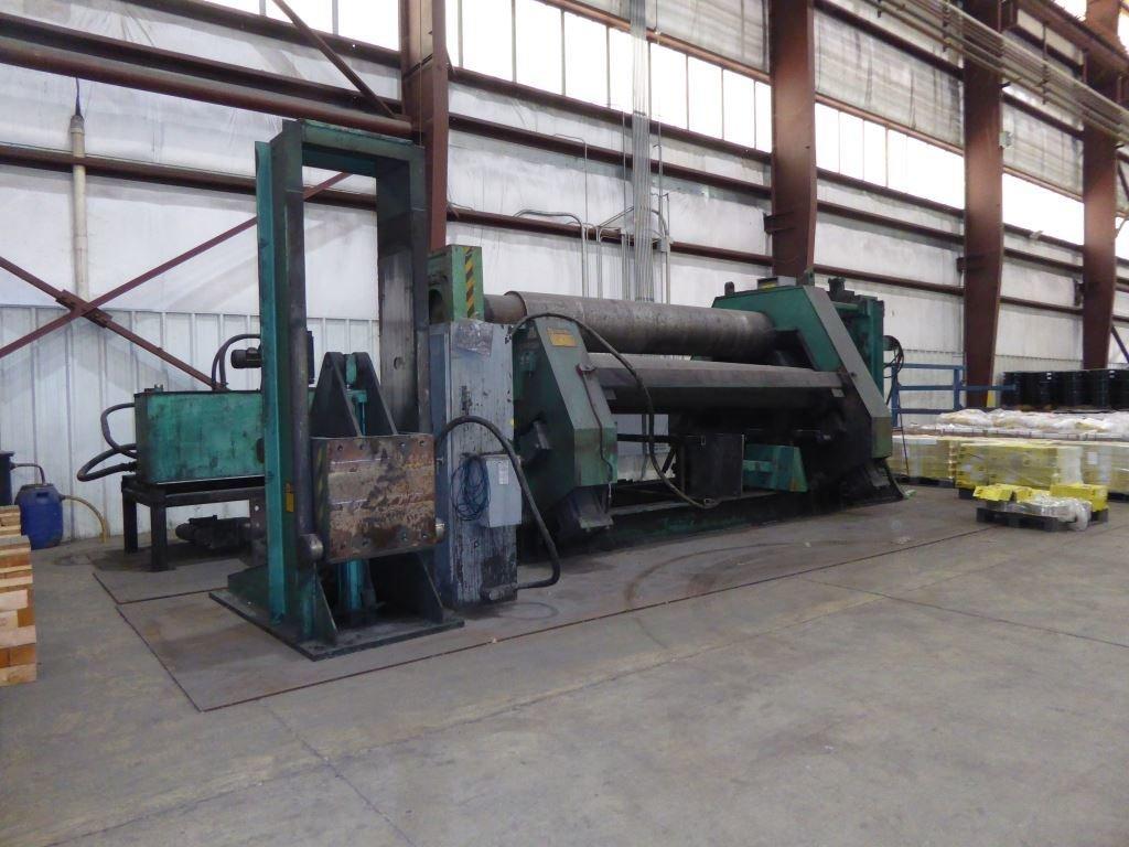 "1 – USED 1.5"" X 138"" BERTSCH HYDRAULIC CNC PLATE ROLL C-5495"