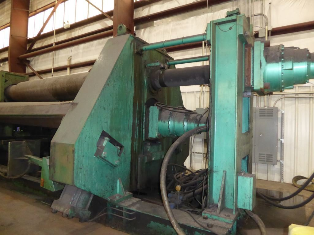 """1 – USED 1.5"""" X 138"""" BERTSCH HYDRAULIC CNC PLATE ROLL"""