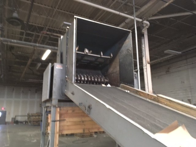 "1 – USED 72"" BLOAPCO SHREDDER FOR WOOD OR CARDBOARD OR PAPER"