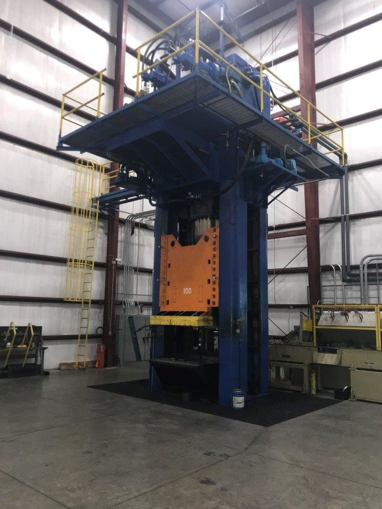 1 – USED 1,200 TON HPM DOWN ACTING GIB GUIDED HYDRAULIC PRESS