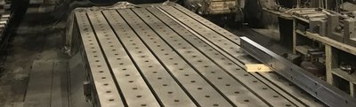"""1 – USED 68"""" X 30' CAST IRON T-SLOTTED FLOOR PLATE"""