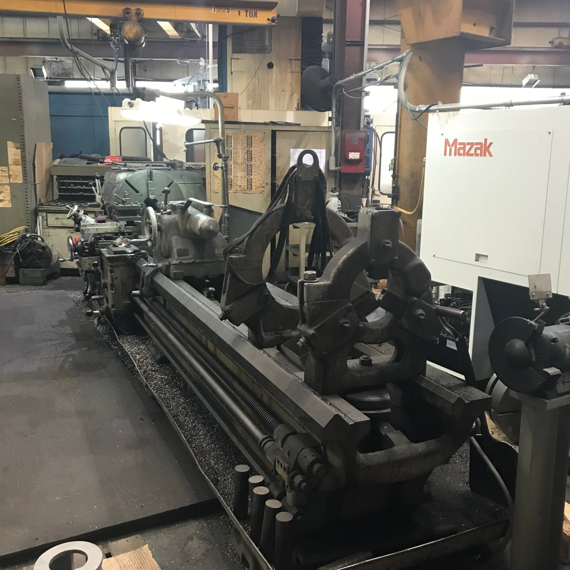 "1 – USED 25"" X 120"" AXELSON HD ENGINE LATHE MODEL D C-5508"