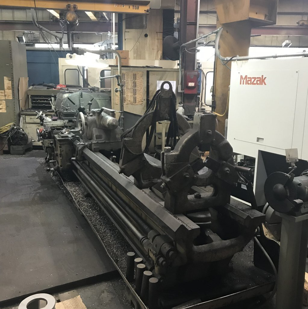 "1 – USED 25"" X 120"" AXELSON HD ENGINE LATHE MODEL D"
