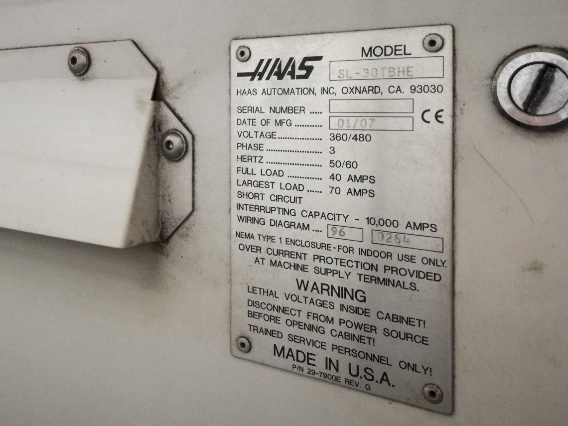 1 – USED HAAS SL-30TBHE CNC LATHE