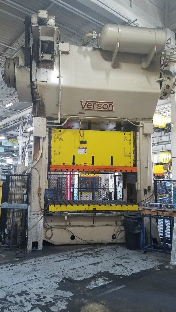 1 – USED 250 TON VERSON STRAIGHT SIDE PRESS C-5458