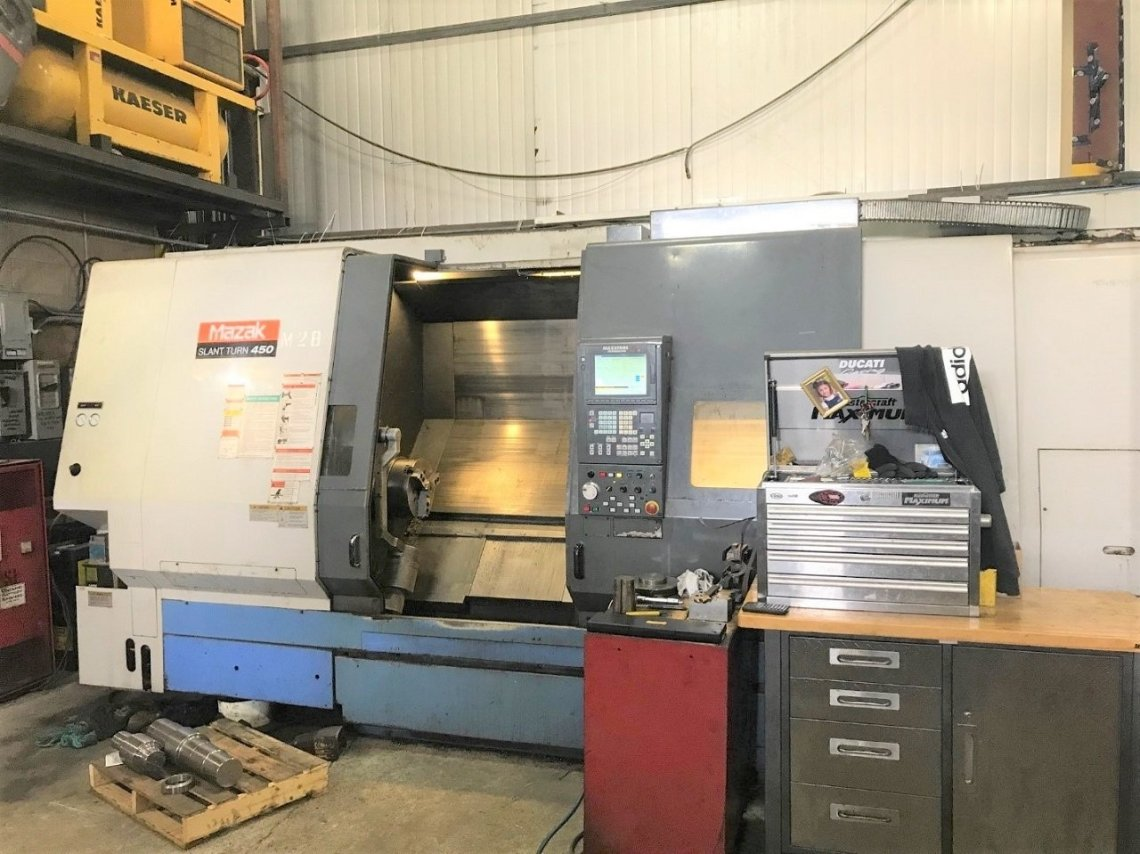 ​1 – USED SLANT TURN 450 MAZAK CNC LATHE