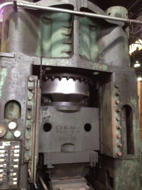 ​1 – USED 2,000 TON BLISS HYDRAULIC FORGING PRESS C-5043