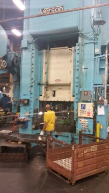 1 – USED 1,500 TON VERSON SINGLE POINT PUNCH PRESS C-5112