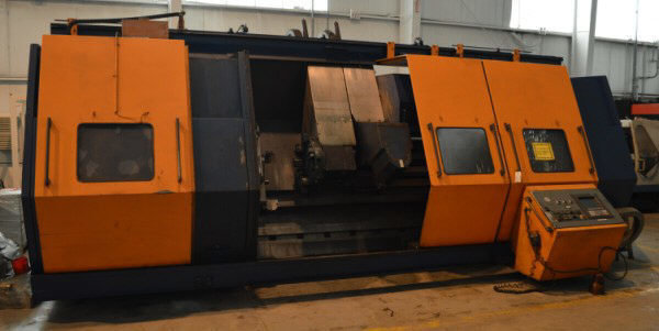 "1 – USED 29.5"" X 118"" VOEST-ALPINE STEINEL 6-AXIS HOLLOW-SPINDLE CNC LATHE WITH MILLING C-5576"