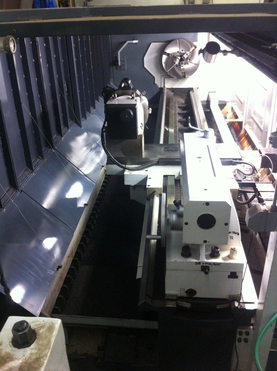 "1 – NEW HTC 49"" X 195"" FLAT BED CNC LATHE"