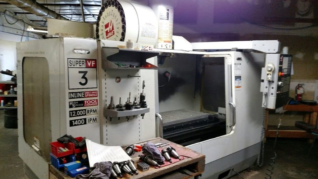 1 – USED HAAS VF-3SS VERTICAL MACHINING CENTER C-5591