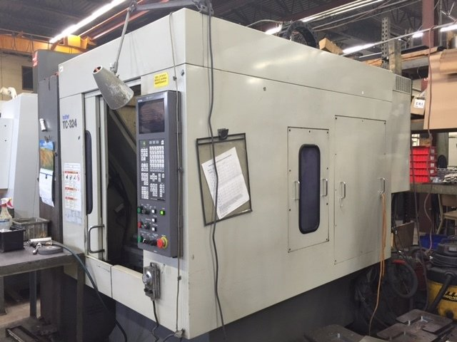 1 – USED BROTHER TC-324N VERTICAL MACHINING CENTER C-5602