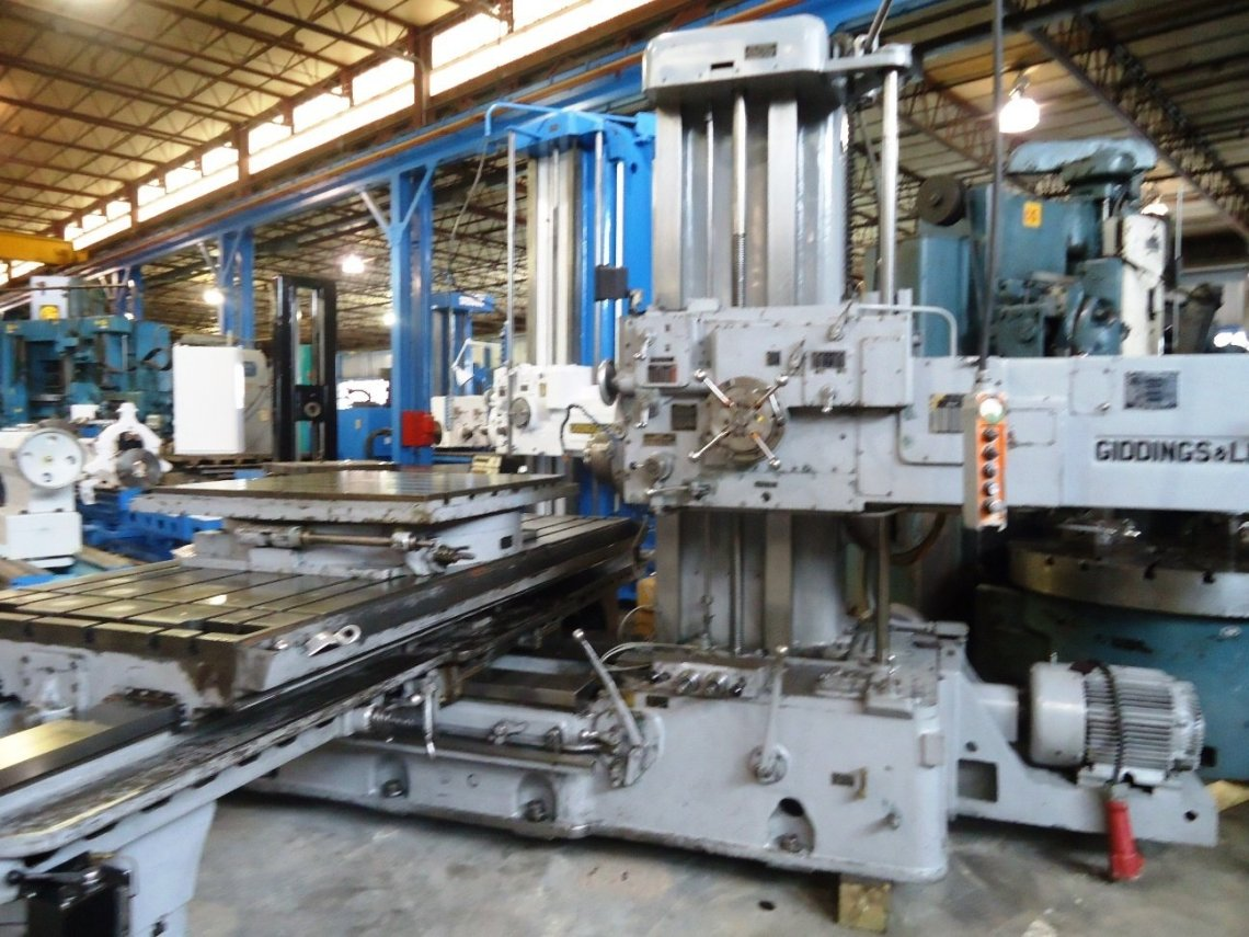 "1 – USED 4"" GIDDINGS & LEWIS TABLE TYPE HORIZONTAL BORING MILL"