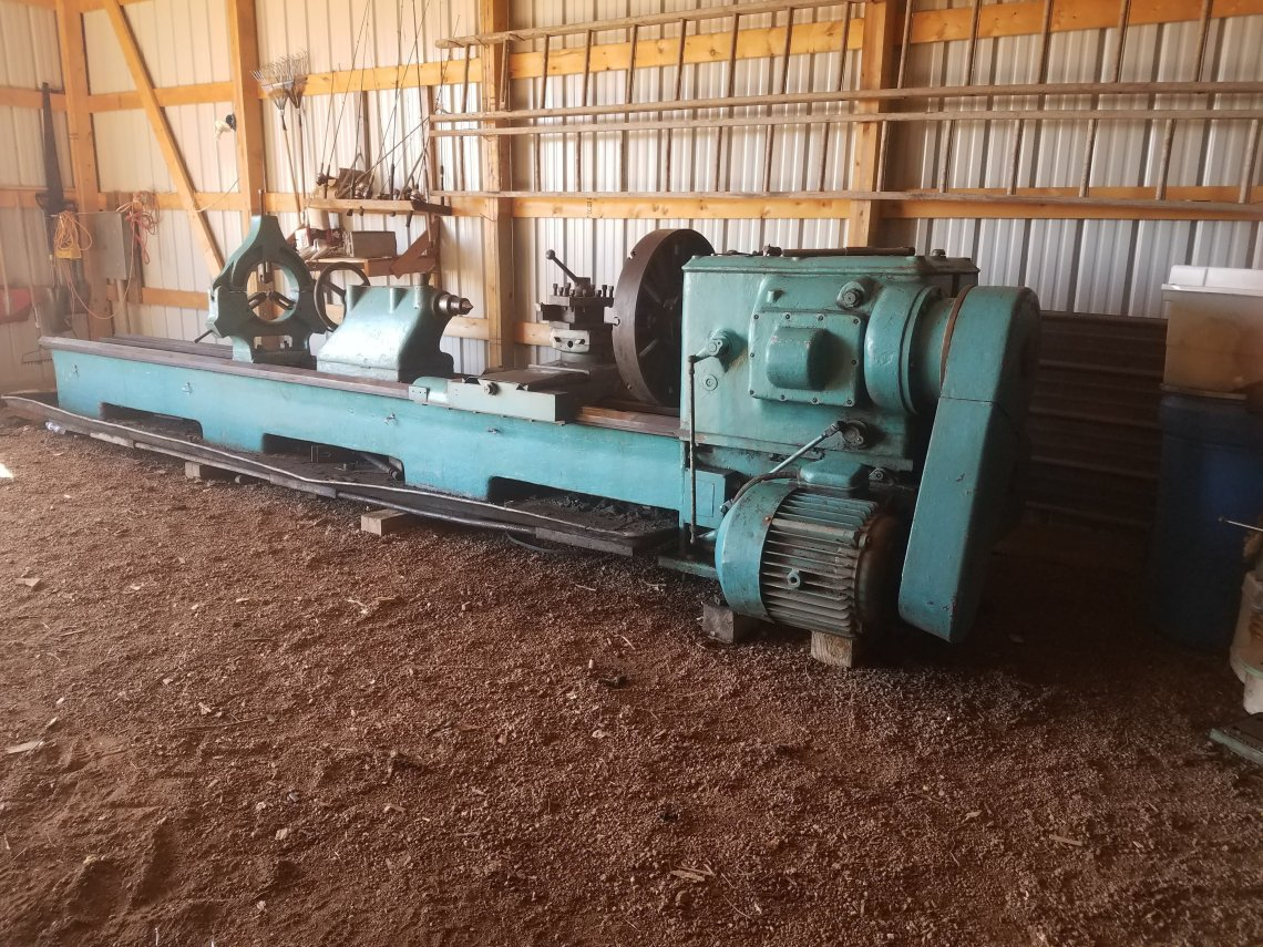 "1 – USED 36"" X 178"" POREBA HEAVY DUTY ECGINE LATHE"
