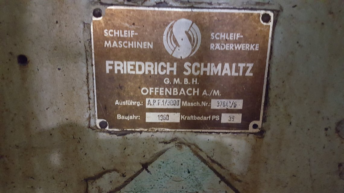 "​1 – USED 24"" X 108"" FRIEDRICH SCHMALTZ HYDRAULIC SURFACE GRINDER"