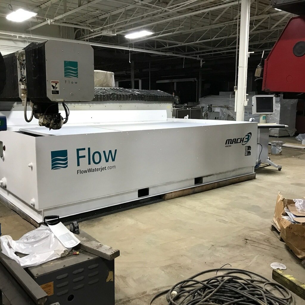 1 – USED 6.5' X 13' FLOW CNC WATERJET CUTTING SYSTEM