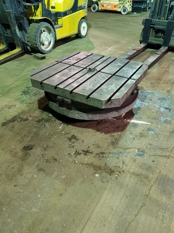 """1 – USED 50"""" X 50"""" G&L AIR LIFT ROTARY TABLE"""